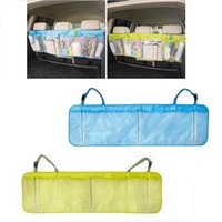 Wholesale Dvd Car Holder Bag - Wholesale- Car Seat Organizer Cover Toys DVD Storage Container Bags Automobiles Pouch Auto Styling Accessories Car Holder Backseat Sundries