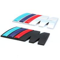 emblem m3 aufkleber großhandel-NEU M power Serie Logo Aufkleber Emblem Abzeichen Chrom 1 3 4 5 6 7 E Z X M3 M5 M6 Mline für BMW M