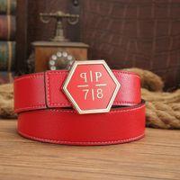 Wholesale White Wide Belt Waist - New Fashion Mens brand PP Belts Luxury Ceinture Automatic Buckle Cowhide Belts For Men Women Waist Belt Free Shipping