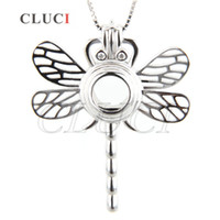 Hot Hands Jewelry Charm 925 Sterling Silver Libélula Locket Pendant Pack de 3pcs, 30.5 * 25.5 * 7.4mm