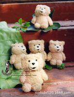 Wholesale Keyring Teddy Bears Wholesale - Wholesale High Quality Cartoon Teddy Bear Plush Toys Small Bear Plush Pendant Keychain Keyring for girls gifts