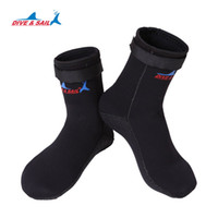 Wholesale Dive Boot Scuba - 3MM Thicken Neoprene Diving Socks Scuba Snorkeling Boots Wetsuit Prevent Scratched Non-slip Swimming Seaside Shoes Men Women