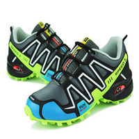 Wholesale Boys Foot Wear - Men Shoes Sports Running Shoes Sneakers Shoe For Boy High quality Leather Soft Wear Boots on Foot Mountaineering Off-road Preferred Black