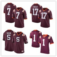Wholesale S Tech - Men's Women Youth Kids Virginia Tech Hokies Red Jerseys 7 Michael Vick 17 Kam Chancellor 5 Tyrod Taylor Customized College Jerseys