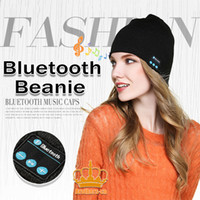 Wholesale Knitted Apple Hats - New Fashion Soft Warm Knitted Hat Wireless Bluetooth Headset Headphone High-tech Smart Cap sv18 for iphone samsung cellphone