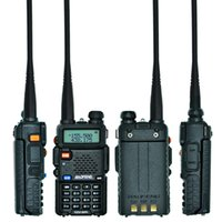 Wholesale Baofeng Dual Uv 5r - Baofeng Uv-5r Walkie Talkie Dual Band Radio Station Two-way Radio Walkie Talkie Headsets With Mic Radio Transceiver Communication Equipment