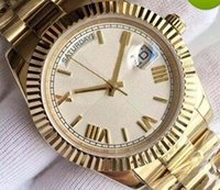 Wholesale Mens Auto Wind Watches - 2016 new 18 ct gold DAYDATE 40mm self-winding mechanical movement Silver dial Fluted bezel Concealed folding Crown clasp Mens watch