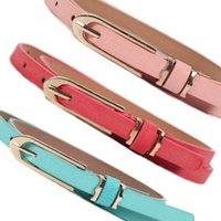 Wholesale Thin White Leather Belt - Female Metal Buckle Brand Leather Thin Belt Women Waistband Casual Style Belt