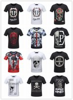 Wholesale NEW top quality men d t shirt summer brand cotton short sleeve t shirt fashion skull horse printed Men st shirt