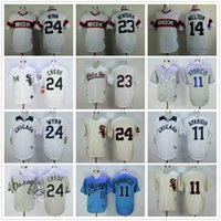 9d8800ab4 ... Baseball Men Short 11 Luis Aparicio Jerseys Chicago White Sox Baseball  Jersey Throwback 23 Robin Ventura ...