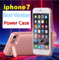 Wholesale External Battery Back Case - Best Quality 10000mAh External Smart Battery Case Charger Back Power Cover For iphone 7 7 Plus Case Power Bank backup