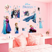 Wholesale Environmental Murals - Wall Stickers Cartoon Characters Exquisite Anna And Essar Sticker Waterproof Environmental Protection Popular Fashion Cute The New 3 3bs A