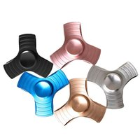 Wholesale education toys for sale - DHL Free EDC Tri Spinner Fidget Toy Hand Spinner Aluminum Alloy Fidget Spinner For Kids Adult Relief Stress Education Decompression Toys