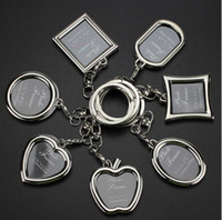 Wholesale Recording Photo Frame - Hot sale Creative couple picture frame personality love key chain photo key ring customization KR013 Keychains mix order 20 pieces a lot