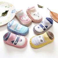 Wholesale Children Socks Wholesale Floor - 2017 Children Spring New Cartoon Fox Baby First Walkers Cotton Baby Shoes Non-slip Toddler Socks Baby Floor Socks