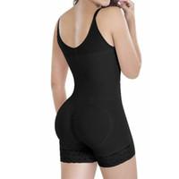 Wholesale Spandex Bodysuits - Women Hot FULL Body Shaper Clips & Zipper Slimming Waist Cincher Underbust Corset Faja Bodysuit Jumpsuit Shapewear