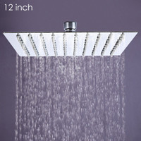 Wholesale Rain Shower 12 - Wholesale- 12 inch Ultra-thin Square Stainless Steel Rainfall Head Shower Ducha Chuveiro 31cm * 31cm Head Rain Shower