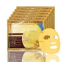 ingrosso collagene idratante sbiancante maschera facciale-60g Maschere facciali in cristallo di collagene Sbiancamento Maschera idratante Maschera polvere d'oro Maschere per la cura della pelle Maschere per il viso Colore oro