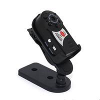 mini wifi mikrofon toptan satış-Q7 Mini Wifi DVR Kablosuz IP Kamera Video Kaydedici Kamera Kızılötesi Gece Görüş Kamera Hareket Algılama Dahili Mikrofon Ücretsiz DHL
