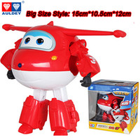 Grand! 15 cm ABS Super Ailes Deformation Avion Robot Figurines Super Wing Transformation jouets pour enfants cadeau