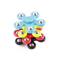 Wholesale Funny Desks - 5 Balls Plastic EDC Spinner Funny Anti Stress Toys Fidget Spinner Desk Anti Stress Finger Spin Spinning Top EDC Sensory Toy Cube 2107268