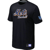 Wholesale Hot Sell New York Mets Baseball Short Sleeves T Shirts Big Tall Logo Fashion Baseball Tees Shirt Cotton O Neck T shirt