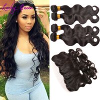 Wholesale Vip Malaysian Hair Weave - Malaysian Body Wave with Frontal Closure VIP Beauty Malaysian Virgin Hair 3 Bundles with Full Lace Frontal Moda Human Hair Weave