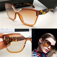 Wholesale connect fashion - The latest fashion ladies sunglasses geometric cutting frameless frame Connect the lens design style top quality 16T UV protection eyewear