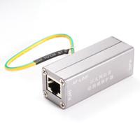 Wholesale Ethernet Protector - Ethernet Network RJ45 Adapter Surge Protector Device Lightning Thunder Arrester