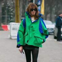 ingrosso donne blu cappotti-2017 BLCG New Fashion donna uomo patchwork verde nero blu caldo giacche invernali cappotti moda outwear HFJK023