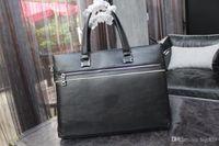 Wholesale Genuine Leather Bags Mens Briefcase - Original High Quality Mens briefcase Business bag Cowhide Laptop Handbag,Mens Work tote fast post leather shoulder bag model 148601902
