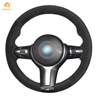 Wholesale M3 Steering Wheels - Mewant Black Suede Car Steering Wheel Cover for BMW F33 428i 2015 F30 320d 328i 330i 2016 M3 M4 2014-2016