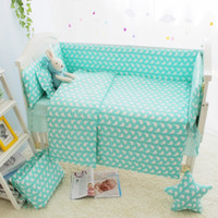 Wholesale Baby Girl Crib Bedding Cheap - Cheap 7 Size Green Baby Girl Cot Crib Bedding Sets, Cartoon Baby Crib Set, Cot Bumpers Sheet Quilt Mattress Pillow Baby Bed Set