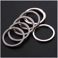 Wholesale Light Keyring Sale - 35mm DIY Key Rings 304 Stainless Steel Keyrings for Jewelry DIY accessories 1000pcs Silver Bands for Sale