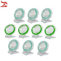 Atacado 10Pcs Clear Jewelry Pulseira Display Holder Bangle Organizer Rack Acrílico Pulseira Display Colar Stand Holder