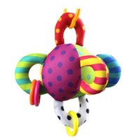 Wholesale Toy Ball Colourful - Wholesale- Colourful Cloth Ball Baby Toys 0-12 Months Hanging Kids Toy Early Educational Baby Rattle Colourful Cloth Ball Baby Toys