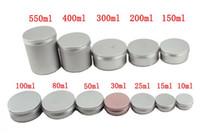 trousse de maquillage écologique achat en gros de-Contenants vides de taille différente en aluminium jarres de thé boîtes en aluminium boîte cas maquillage maquillage vider brillant à lèvres pots pots cosmétiques boîte