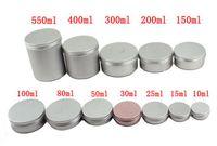 ingrosso contenitori di trucco di jar-Contenitori vuoti di diverse dimensioni Contenitori in alluminio per barattoli di latta in alluminio Scatole in alluminio Custodia per cosmetici