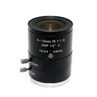 Wholesale Ir Mega 12mm - 2MP 4-12mm IR LENS C Mount 2.0 Mega Pixel HD Industrial lens Vari-Focal Manual Iris CCTV Lens For CCTV Camera