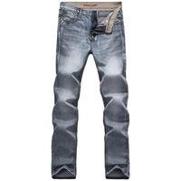 Wholesale Jean Hot Pants - Wholesale- 2016 Hot Sale Gray Colour Distressed Jeans For Men Quality Jeans Retro Designer Jean Pants Famous Brand Clothing Size 28 To 38