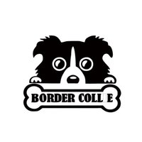 Wholesale decal borders - Hot Sale Personality Style Car Sticker Cute Border Collie Dog Cool Pet Peeking Dog Car Window Decal