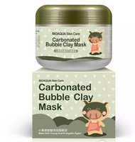 Wholesale Oxygen Cleaners - Carbonated Bubble Clay Mask Oxygen Mud Moisturizing Deep Clean Piggy Carbonated Oxygen 100g Remove Blackhead Deep Cleansing Masks