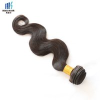 Wholesale Brazilian 1kg Body Wave - 1kg Wholesale 10 Bundles Brazilian Peruvian Indian Body Wave Remy Human Hair Extension Natural Black 2 4 Brown Unprocessed Virgin Hair Weave