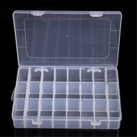 Wholesale 24 Compartment - Hot selling Adjustable Storage Box 10 15 24 Compartments Organiser Plastic Case for mon girlfriend birthday gift