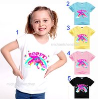 Wholesale Girls 15 Days - 15 Style Boys girls Trolls Poppy Branch T-shirts 2017 new children cartoon Poppy Biggie Short sleeve T-shirts baby clothes B001