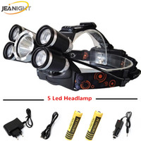 Wholesale Headlamp Charge - JEANIGHT Led Headlight Cree T6 15000Lm Headlights Head Lamp Headlamp for Hunting Light with 18650 Battery and Charge