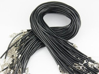 Wholesale diy wires resale online - Wax Leather Necklace strap buckle shrimp Pendant Jewelry Accessories Leather cord lanyard with Chain DIY Components