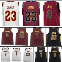 181e8e7bc 2017-2018 New 23 LeBron James Jersey 0 Kevin Love 9 Dwyane Wade 3 Isiah  Thomas 1 Derrick Rose stitched Jerseys ...