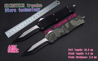 Wholesale Hunting Leaf - MICROTECH troodon switchblades technology, glass equipment, leaf blade 440 c, outdoor camping knife and tactical knife in your pocket knife