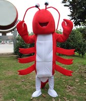 New Red Lobster Shrimp Mascot Costume Fancy Birthday Party Dress Halloween Carnevale Costumi di alta qualità per adulti